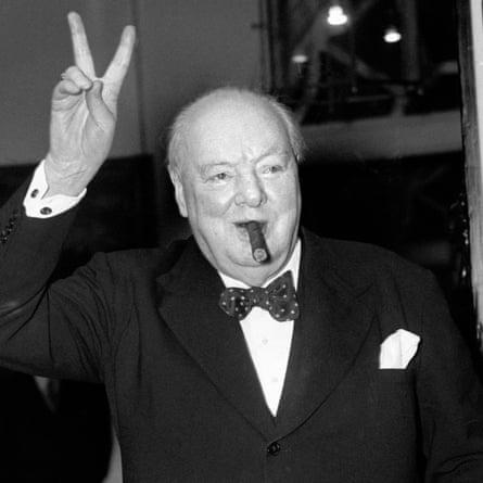 Churchill: fond of a breakfast cigar.