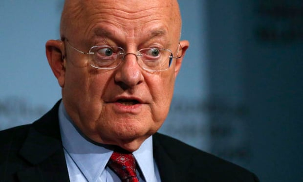 Director of US National Intelligence James Clapper speaks at the Council on Foreign Relations in New York. He revealed a secret trip to North Korea to bring back home two Americans who had been detained there.