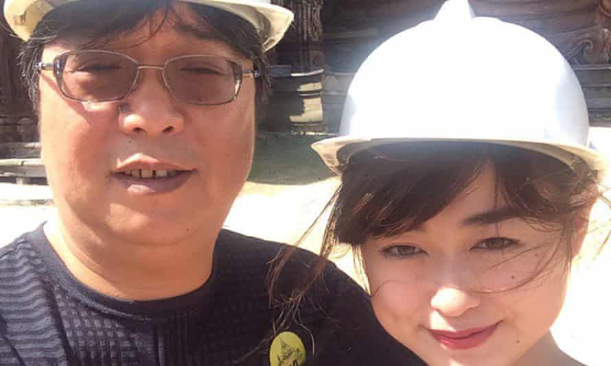 Detained publisher Gui Minhai, seen here with daughter Angela