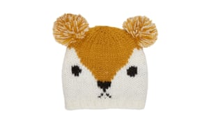 British Heart Foundation's girls' knitted fox hat, £4.99, available at 530 BHF shops nationwide