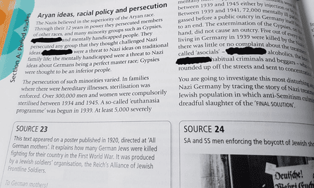 Page in textbook with redacted words