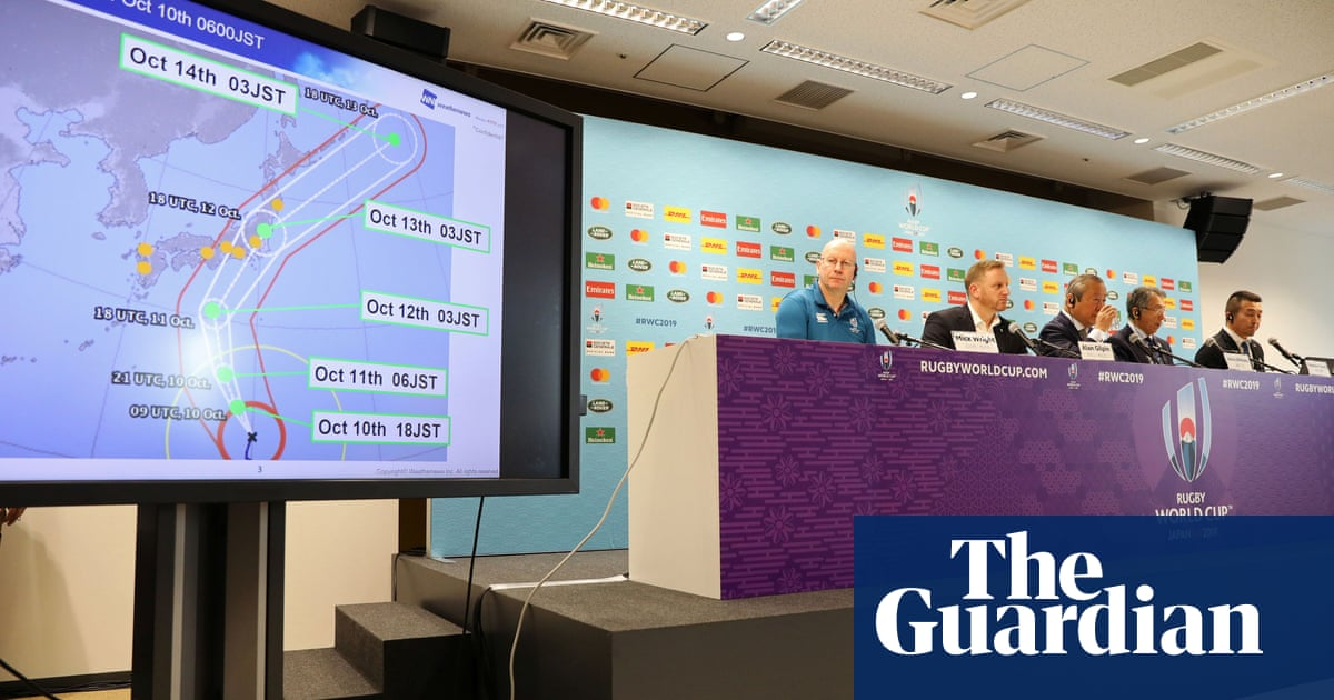 Rugby World Cup: England v France off and Japan v Scotland under threat from Typhoon Hagibis