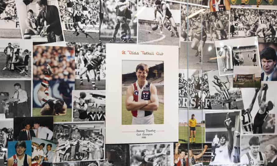 A picture wall dedicated to Danny Frawley