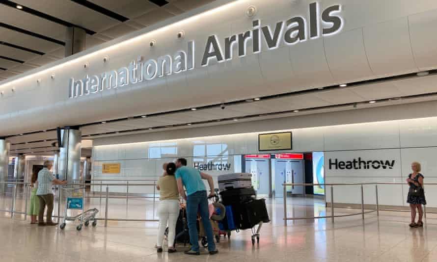 Heathrow international arrivals