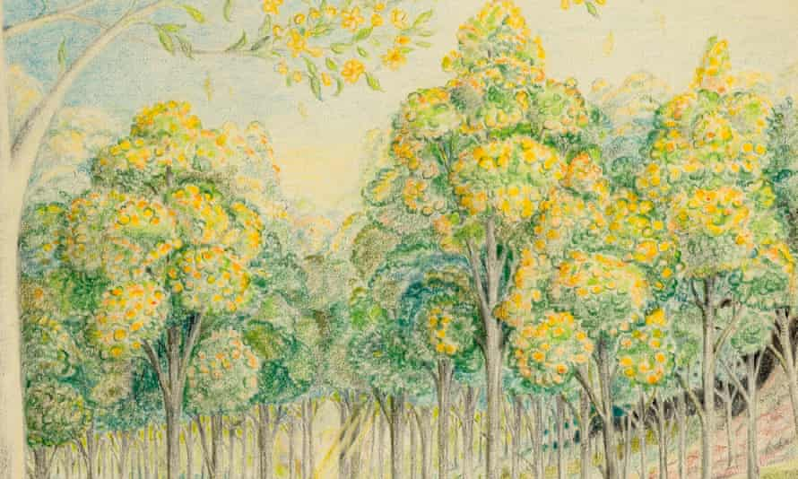 Detail from The Forest of Lothlórien in Spring by JRR Tolkien.
