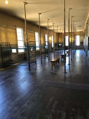 Dorm rooms on Angel Island, San Francisco, where Australians were detained.