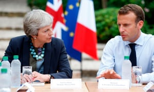 'Britain is divided and Europe rules': Theresa May and Emmanuel Macron discuss Brexit in southern France last week