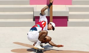 Nyjah Huston in action during the prelim