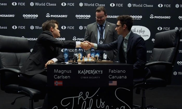 Magnus Carlsen and Fabiano Caruana remain deadlocked after