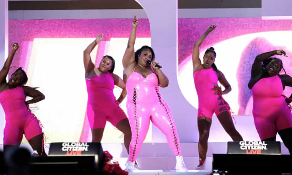 Lizzo performs at the Global Citizen Live Festival in Central Park in New York.