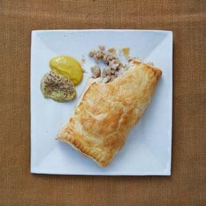 Merlin Labron-Johnson: sausage and onion turnover.