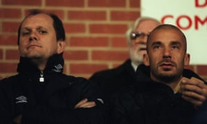 Gwyn Williams, left, pictured here next to Gianluca Vialli in 1998.
