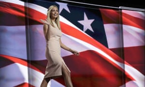 Ivanka Trump walks to the podium during the final day of the Republican national convention.