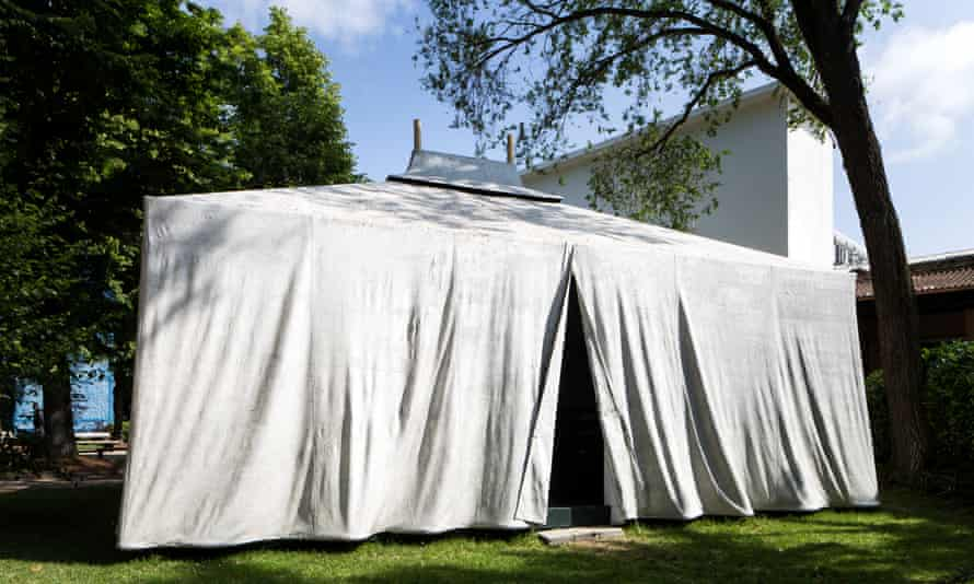 Manuel Herz Architects with the National Union of Sahari Women's tent.