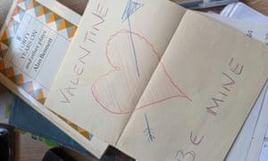 valentine book dedication