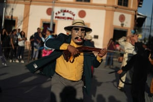 San Salvador, El SalvadorA member of a troupe performs during the celebration of World Theatre Day