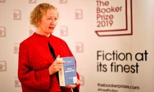 Lucy Ellmann holds her novel Ducks, Newburyport, which is published by Galley Beggar Press.
