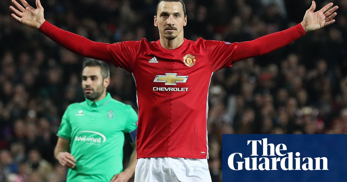 81ff7b1ccc5 Zlatan Ibrahimovic hat-trick drives Manchester United past St-Étienne