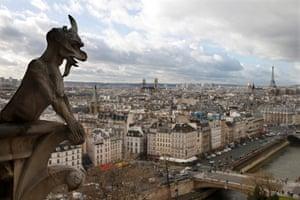 Viollet-le-Duc's gargoyles on Notre Dame Cathedral, Paris.