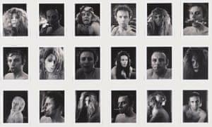 Lucas Samaras. Auto Polaroid. 1969–71. Eighteen black-and-white instant prints. Each: 3 ¾ x 2 15⁄16 in. (9.5 x 7.4 cm). The Museum of Modern Art, New York. Gift of Robert and Gayle Greenhill, 1992. © 2015 Lucas Samaras