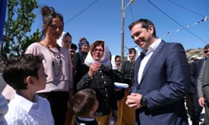 Alexis Tsipras attends celebrations for Greece's independence day on Agathonisi