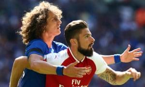 David Luiz and Olivier Giroud
