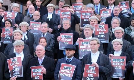 Protestors against legal aid cuts, Birmingham 2014