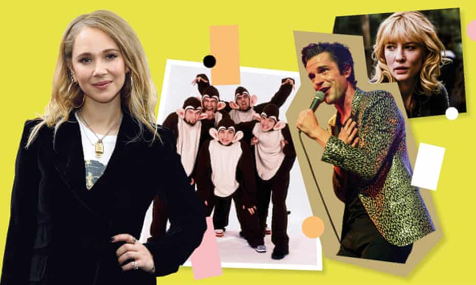 Juno Temple with Bloodhound Gang, Brandon Flowers and Kate Blanchett