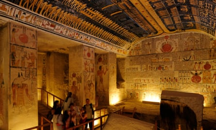 Ramses VI's tomb in the Valley of the Kings.