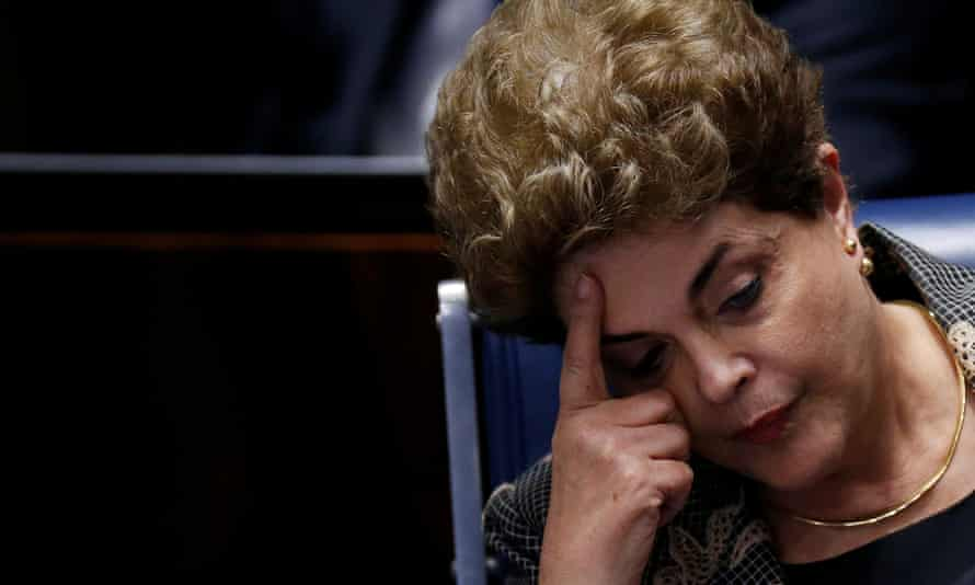 Brazil's suspended president, Dilma Rousseff, attends the final session of debate and voting on her impeachment in Brasilia, Brazil on 29 August 2016.