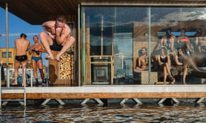 Oslo Fjord Sauna, which attracts a morning crowd of professionals, who head to work after a morning dip.