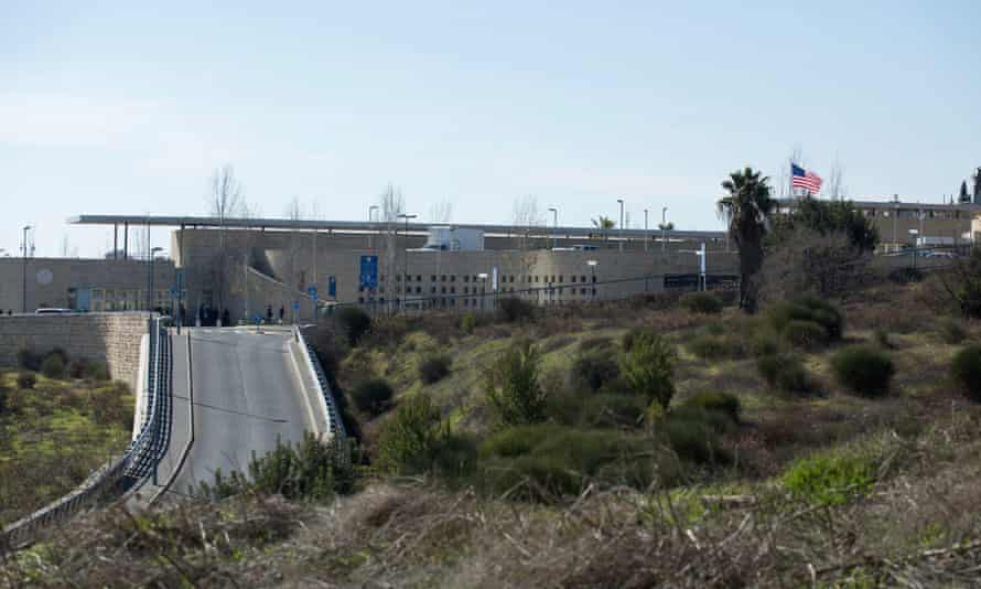 A view of the United States consulate building complex in West Jerusalem, which could be adapted to serve as an embassy.