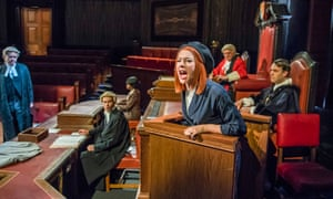Court or debating chamber? … Catherine Steadman (Romaine) in Witness for the Prosecution.
