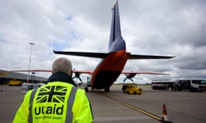 Aid cargo loaded on to plane at East Midlands Airport as part of the government's humanitarian response to the crisis in Iraq in November 2016.
