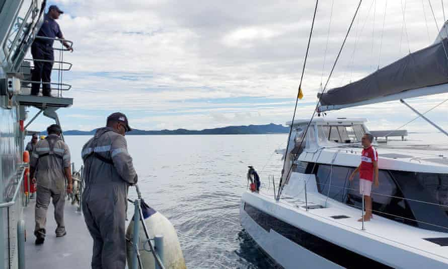 The Fijian Navy rescued Wong Tetchoong, a Singporean man who set out on a sailing adventure in early February and was stuck at sea for months as countries around the world closed their ports due to the coronavirus outbreak.