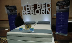 The Sleep Number 360 smart bed at CES in Las Vegas, Nevada.
