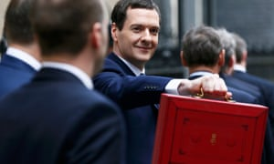 George Osborne with the budget box yesterday6, 2016.
