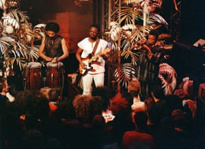 Recording for The Tube television show in 1985