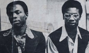 Sterling Christie (L) and Winston Trew in 1973.