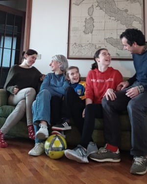 Tobias Jones and family at home in Parma