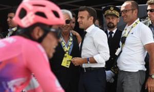 Emmanuel Macron at the Tour de France