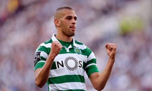 Islam Slimani joined Sporting in 2013 and has scored 26 goals in 32 league games this season.