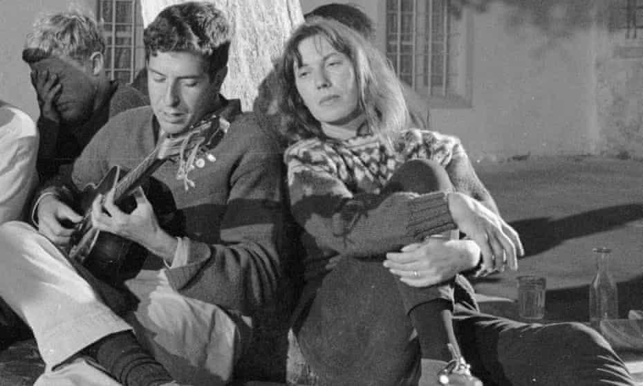 Leonard Cohen and Australian author Charmian Clift on Hydra, 1960.