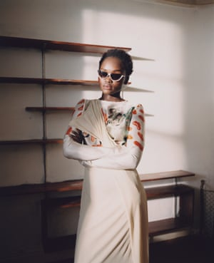 Dress, £1,980, by Marni. Sunglasses, stylist's own