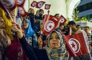 Tunisians rallied in Tunis against the shootings