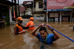 Jakarta, Indonesia: Severe flooding in numerous areas of the capital have caused more than 1,300 people to be evacuated from their homes.