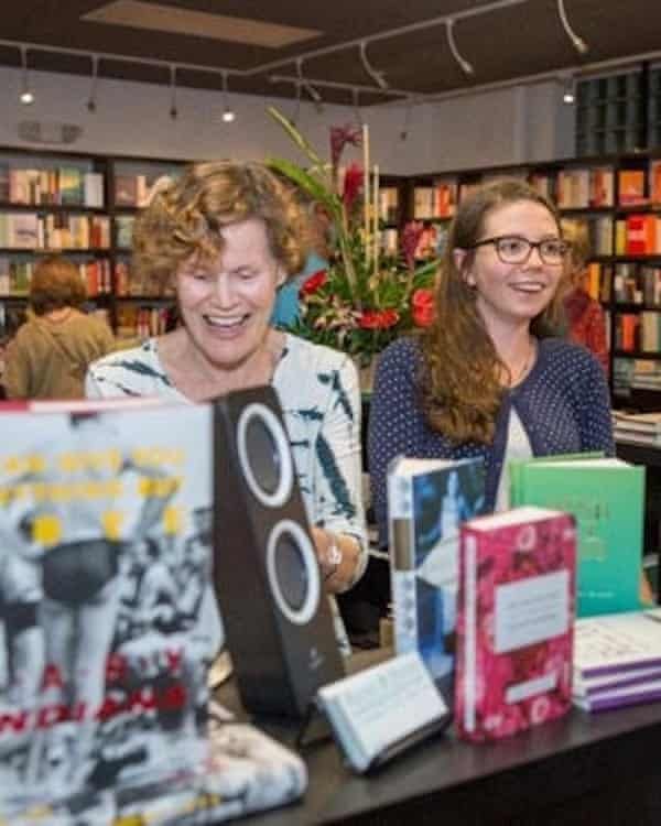 'A very satisfying experience' ... Judy Blume behind the tills at Books & Books @ Key West.
