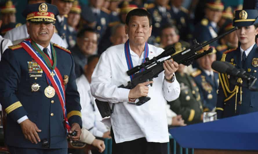Philippine president Rodrigo Duterte, who used Facebook to assist his rise to power