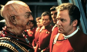 Christopher Plummer as Klingon General Chang and William Shatner as Captain James T. Kirk in Star Trek VI: The Undiscovered Country, 1991