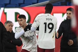 Pepe is subbed for Martinelli.